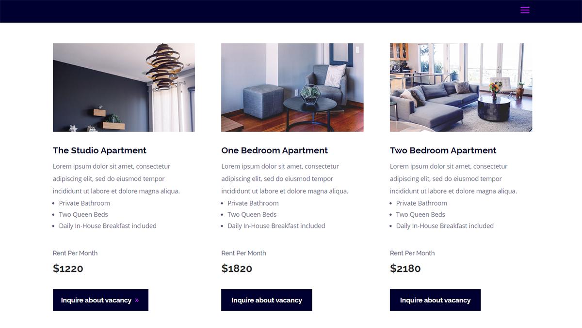 apartment building website theme