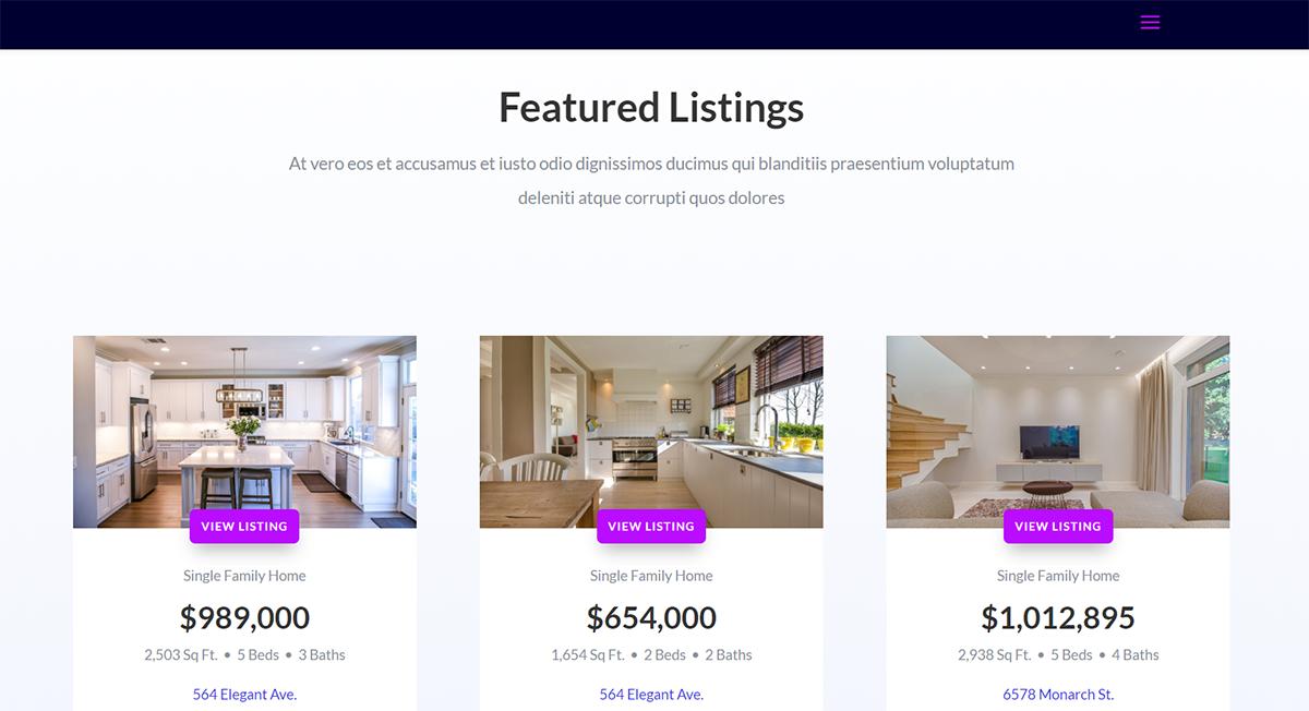 condo website design