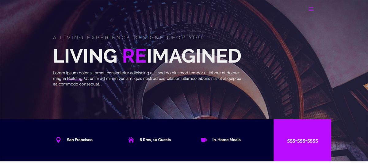 condo website theme example