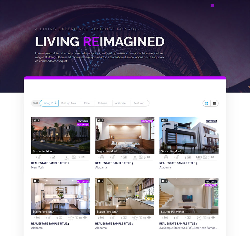 property listing plugin