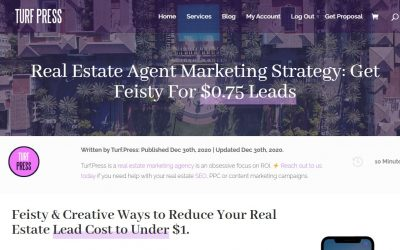Real Estate Agent Marketing Strategy For $0.75 Cent Leads