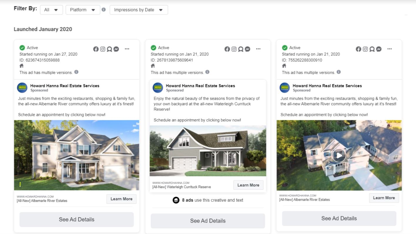 real estate Facebook ads spy tool