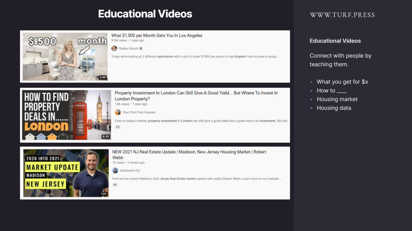 real estate video marketing educational videos